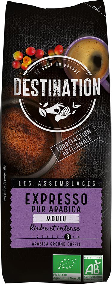 Bio káva mletá Espresso Destination 250 g