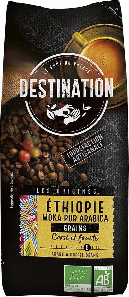 Bio káva zrnková Etiopie Destination 500 g