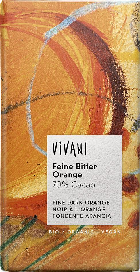 Bio hořká čokoláda pomerančová VIVANI 100 g
