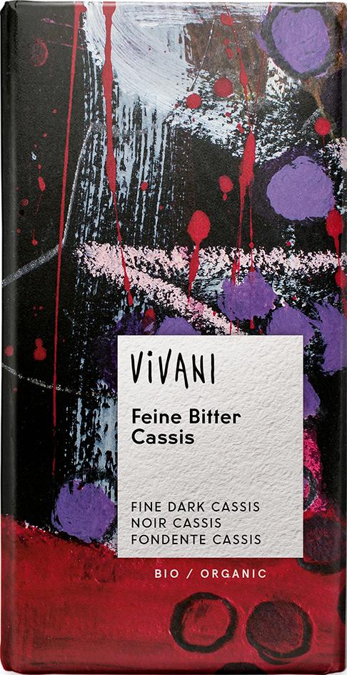 Bio hořká čokoláda CASSIS VIVANI 100 g