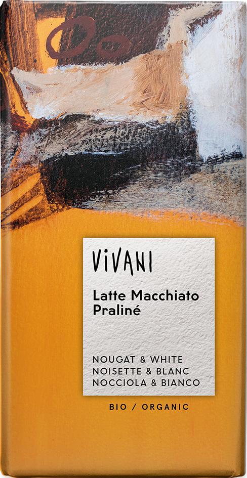 Bio Latte Macchiato Praliné čokoláda VIVANI 100 g