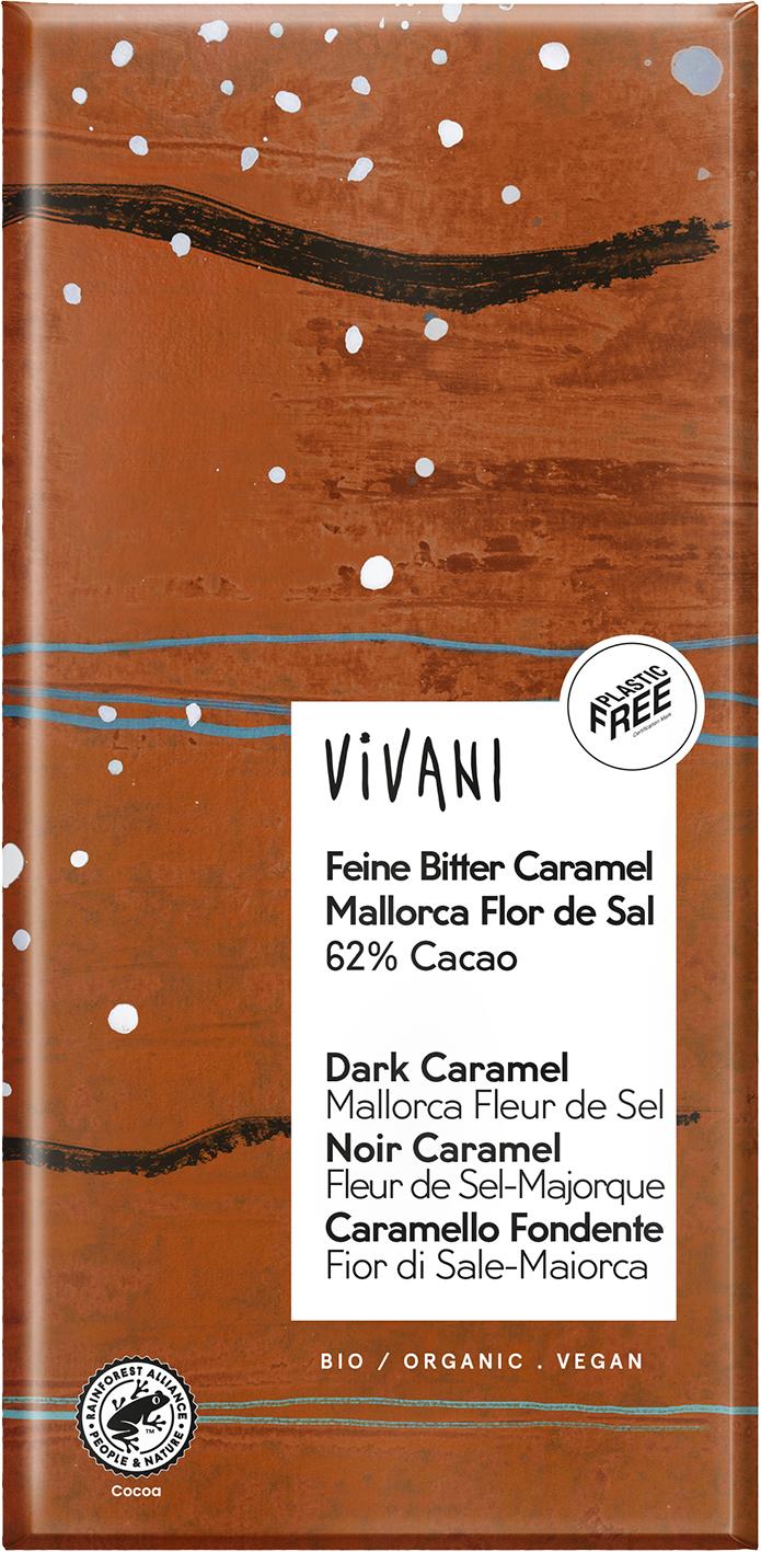 Bio hořká čokoláda s karamelem a solí VIVANI 80 g