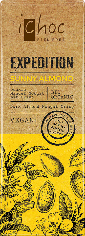 Bio Sunny Almond Expedition iChoc 50 g