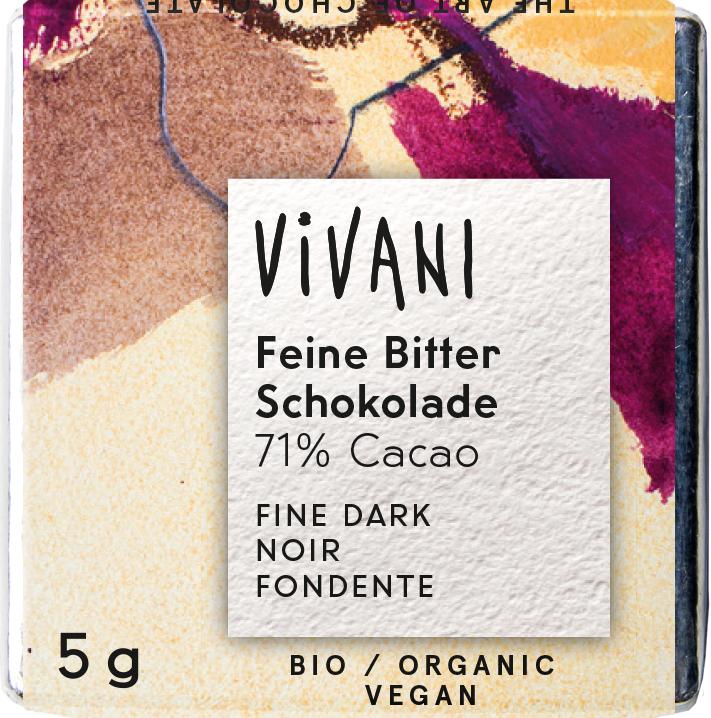 Bio hořké miničokoládky VIVANI 200 x 5 g