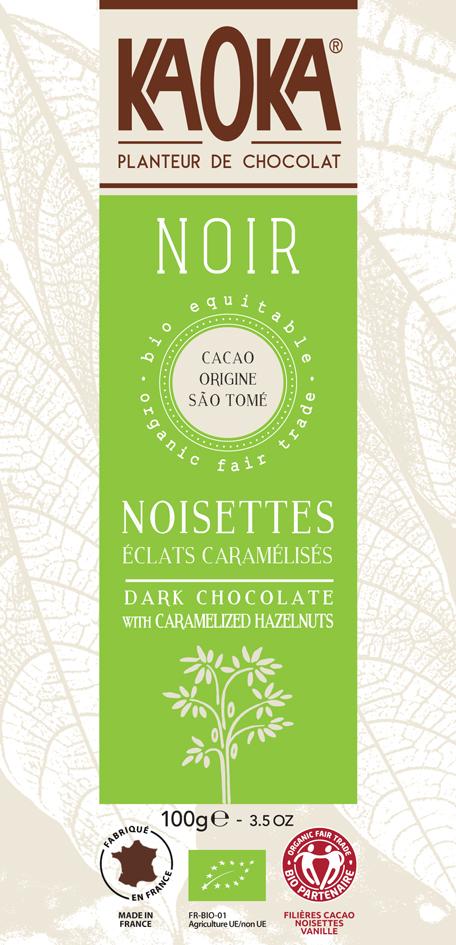 Bio hořká čokoláda s oříšky KAOKA 100 g