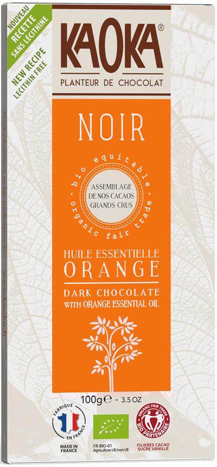 Bio hořká čokoláda pomerančová KAOKA 100 g