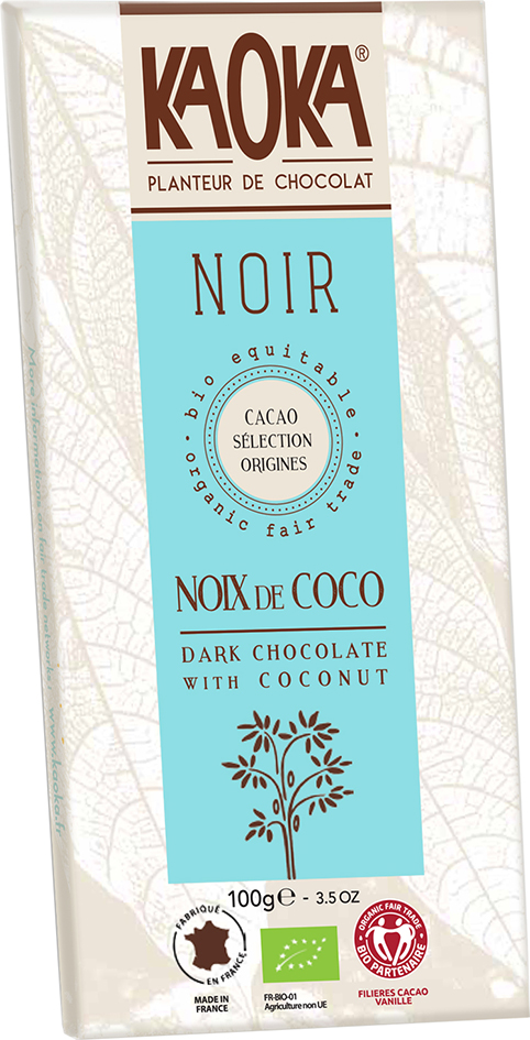 Bio hořká čokoláda s kokosem KAOKA 100 g