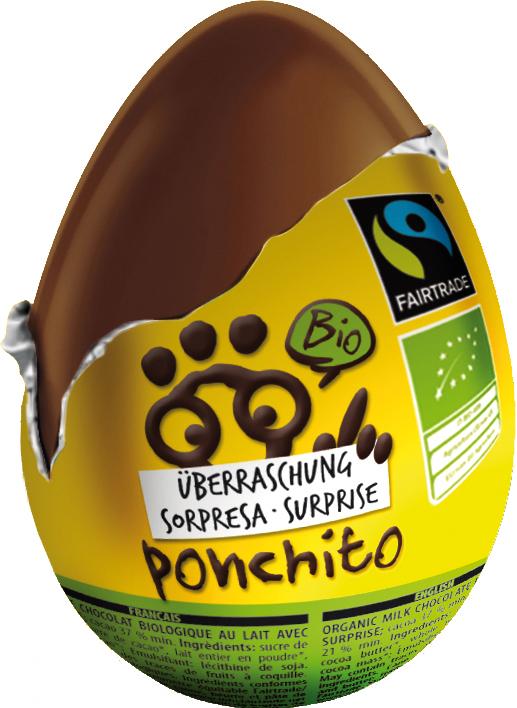Bio čokoládové vajíčko Ponchito 20 g