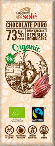 Bio hořká čokoláda 73% SOLÉ 25 g