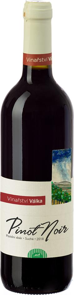 Bio Pinot Noir pozdní sběr červené 2018 Válka 0,75 l