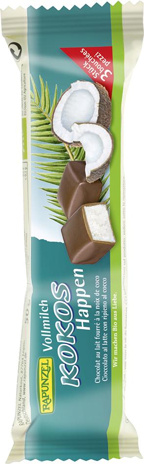 Bio kokos v mléčné čokoládě RAPUNZEL 50 g