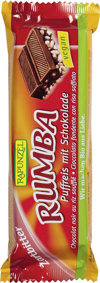 Bio pufovaná rýže v hořké čokoládě RUMBA RAPUNZEL 50 g