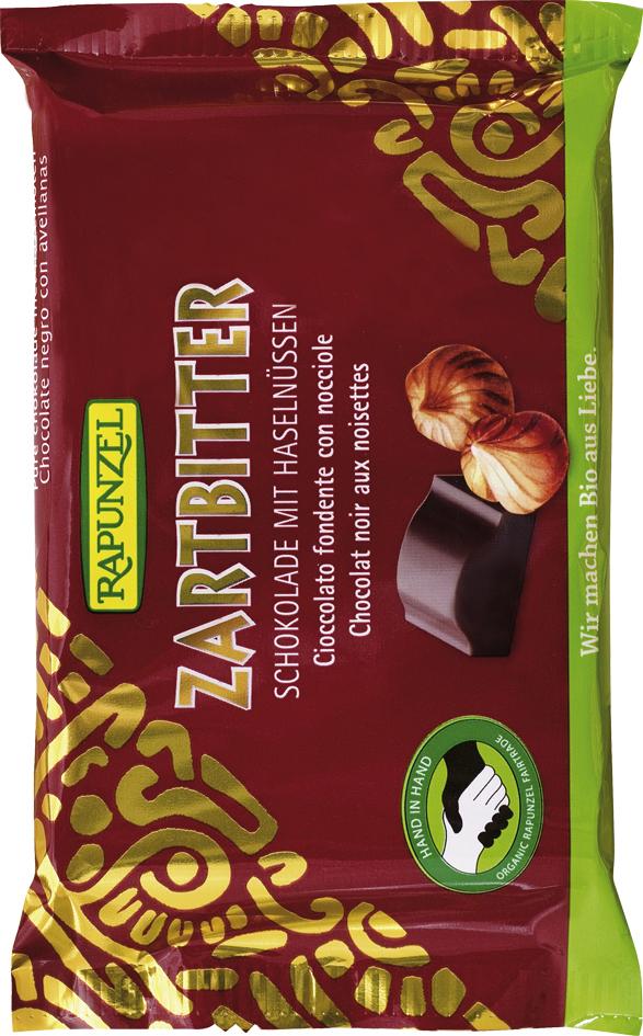 Čokoláda hořká s lískovými oříšky 100g
