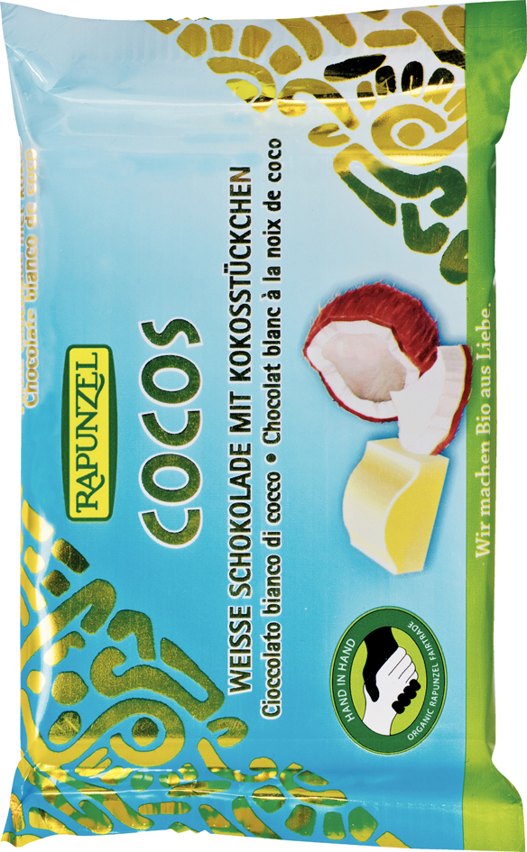 Čokoláda bílá s kokosem 100g