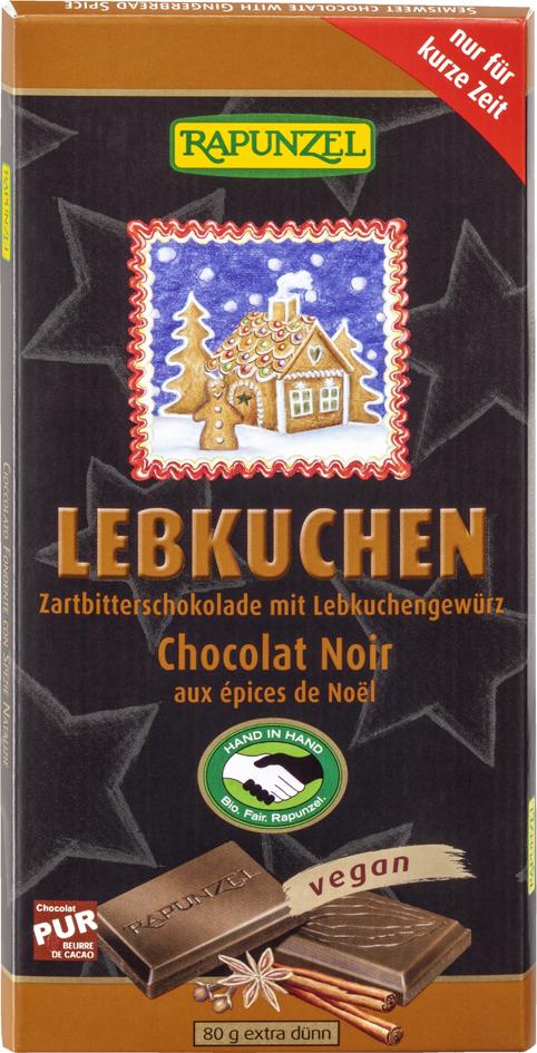 Bio hořká čokoláda s perníkovým kořením RAPUNZEL 80 g