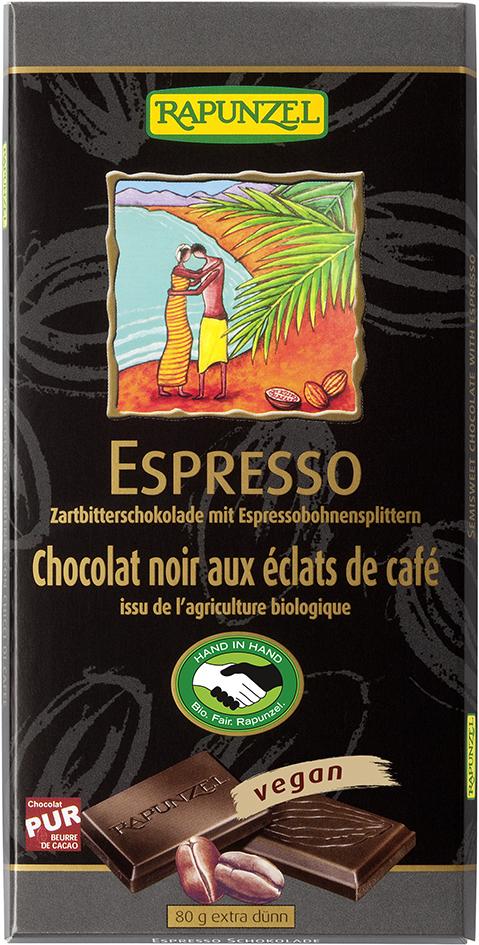Čokoláda hořká s kávovými zrny 100g