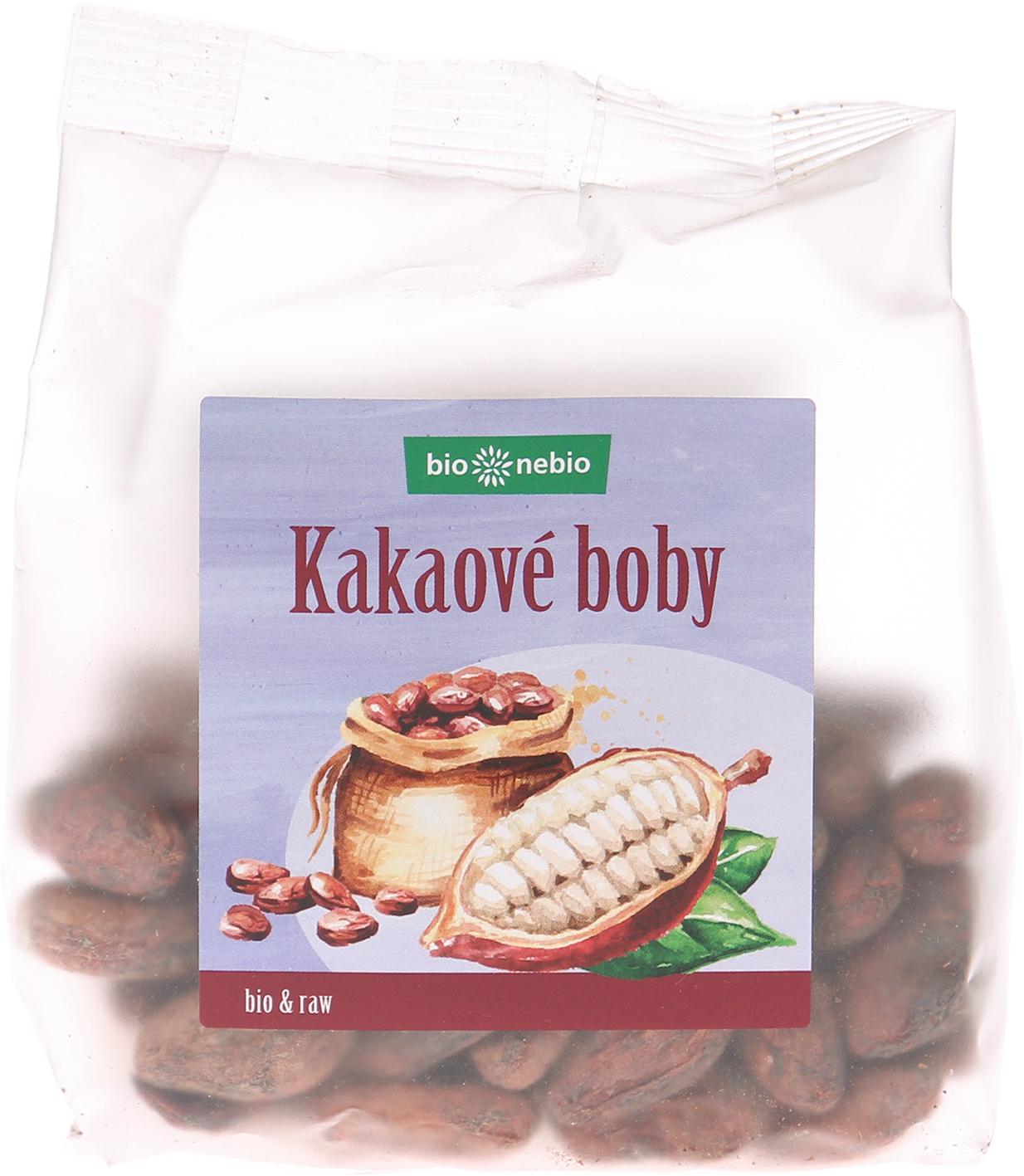 Bio kakaové boby nepražené bio*nebio 100 g