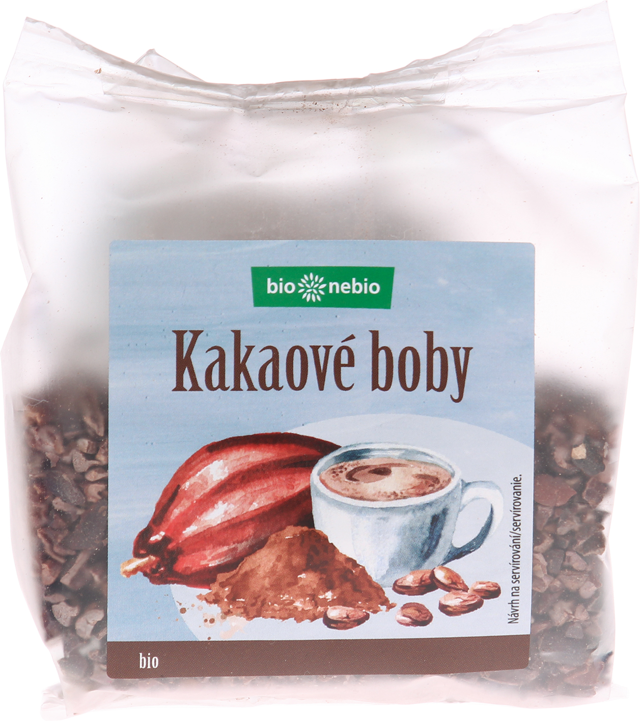 Bio kakaové boby drcené bio*nebio 100 g