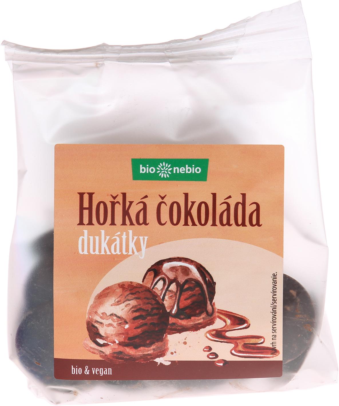 Bio dukátky z hořké čokolády bio*nebio 100 g