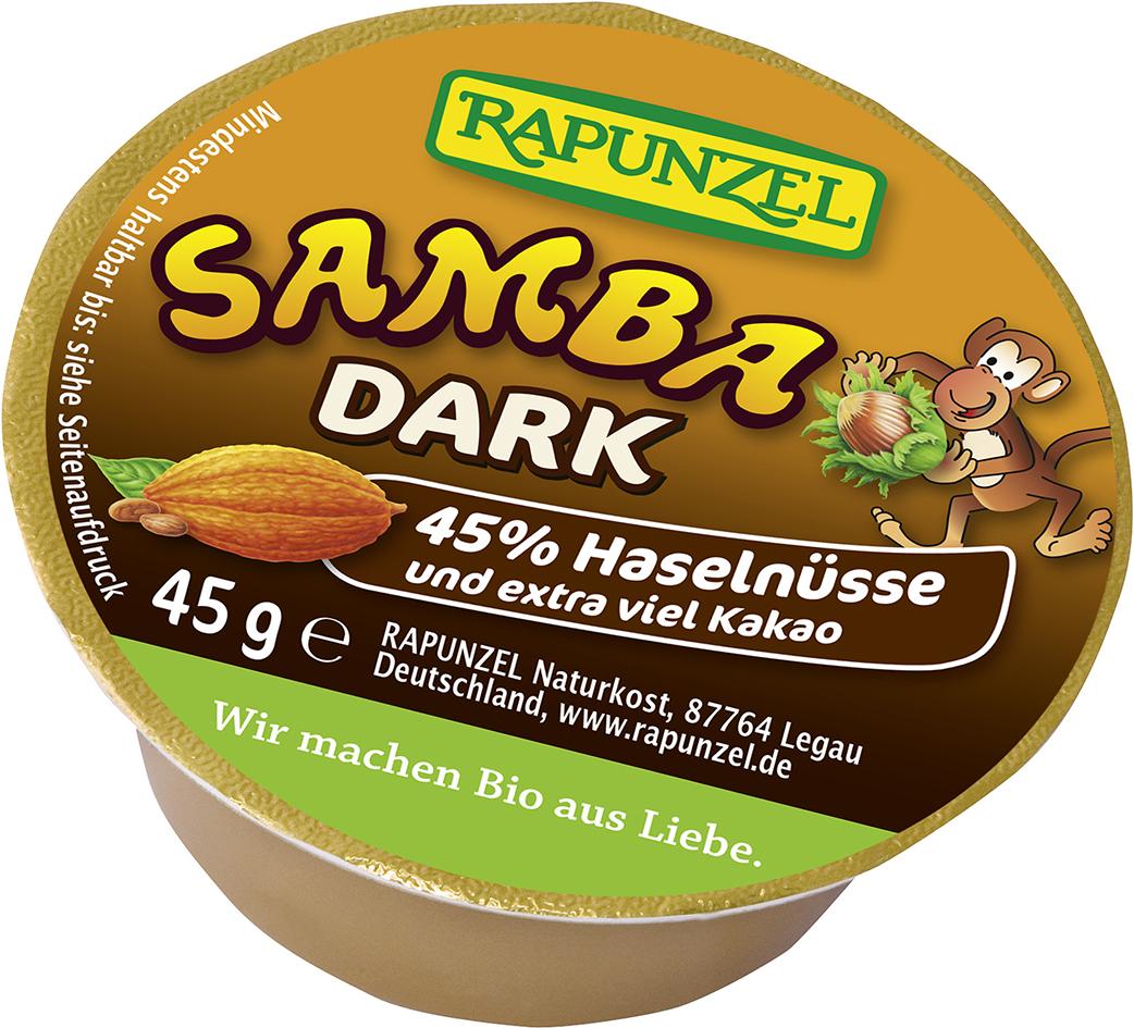 Bio mini SAMBA DARK: oříšková pomazánka RAPUNZEL 45 g