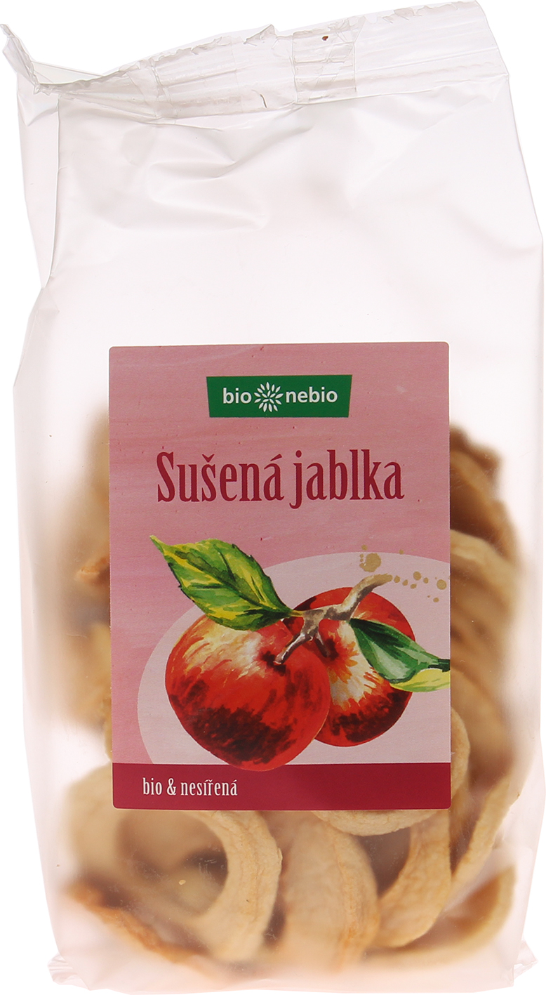 Bio sušená jablka kroužky bio*nebio 100 g