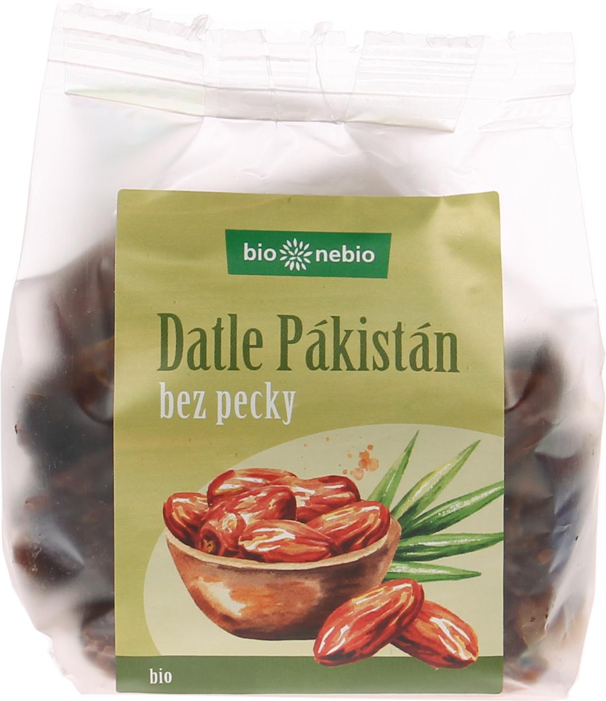 Bio sušené datle Pákistán vypeckované bio*nebio 200 g