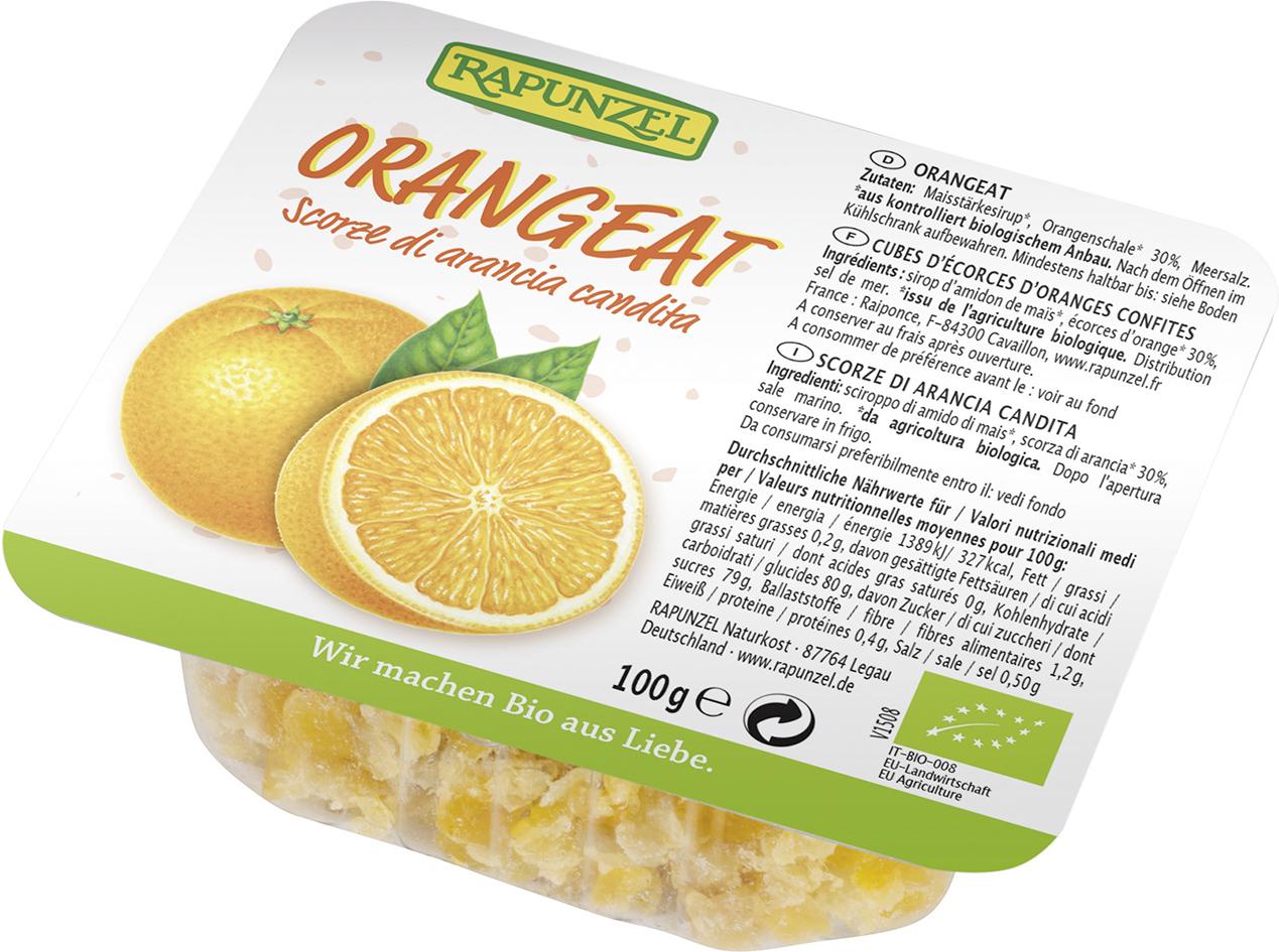 Bio kandovaná pomerančová kůra RAPUNZEL 100 g