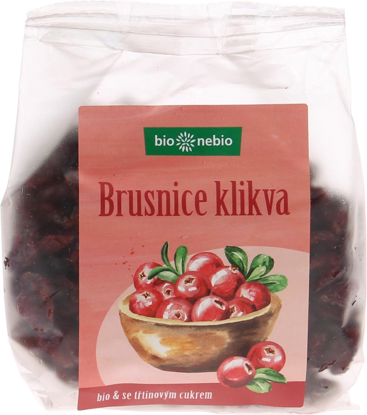 Bio brusnice klikva se třtinovým cukrem bio*nebio 200 g