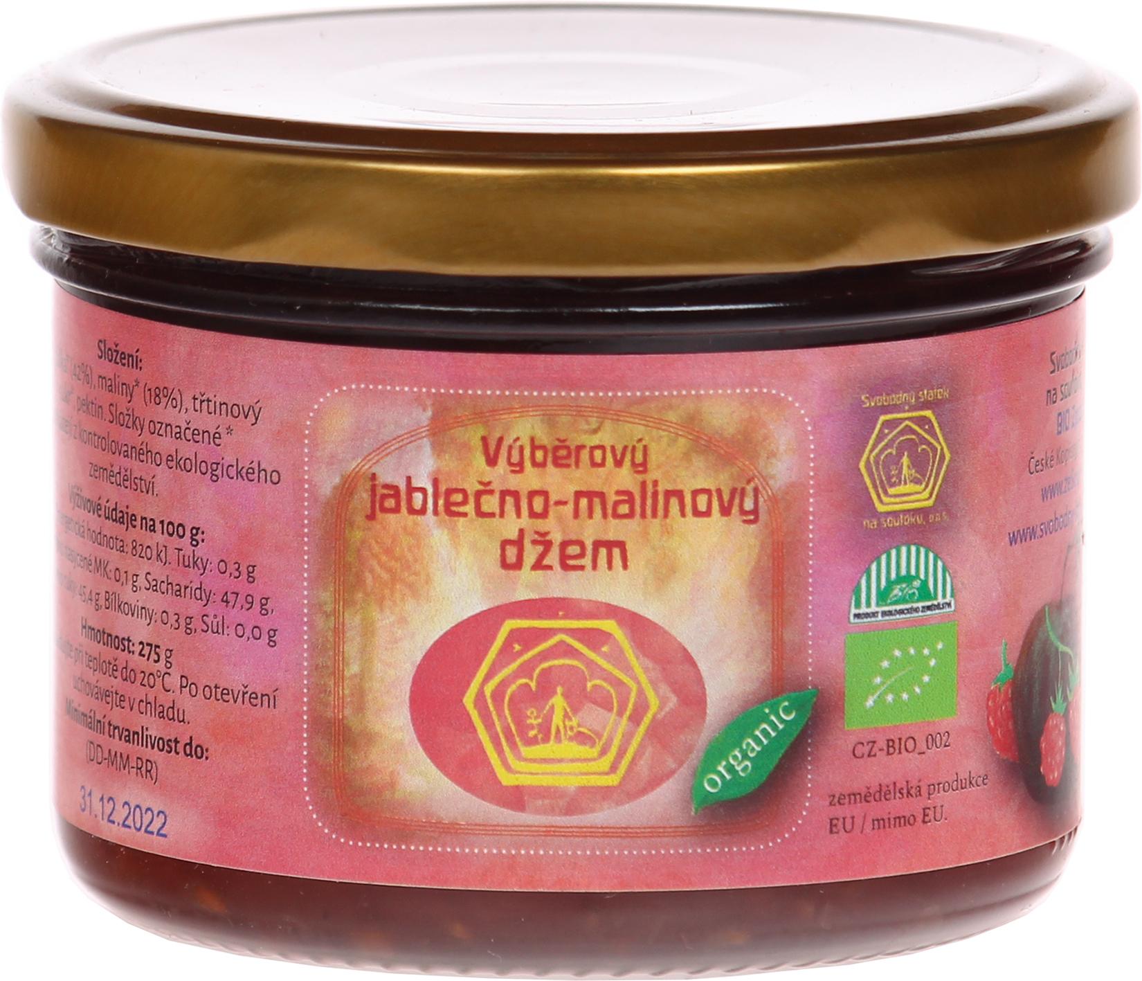Bio jablečno-malinový džem Svobodný statek na soutoku 275 g