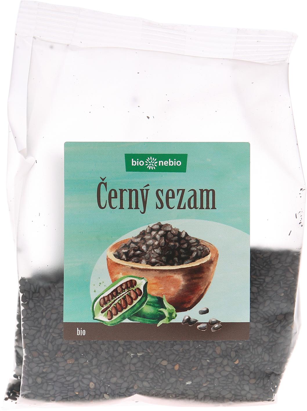 Bio sezam černý neloupaný bio*nebio 100 g