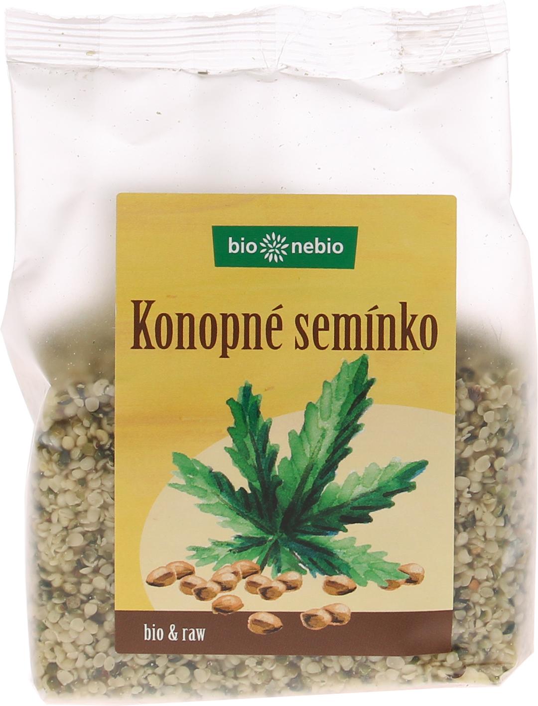 Bio konopné semínko loupané bio*nebio 200 g