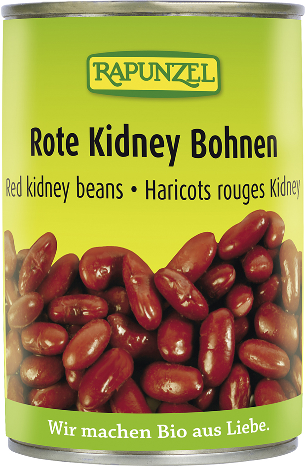 Bio červené fazole sterilované RAPUNZEL 400 g