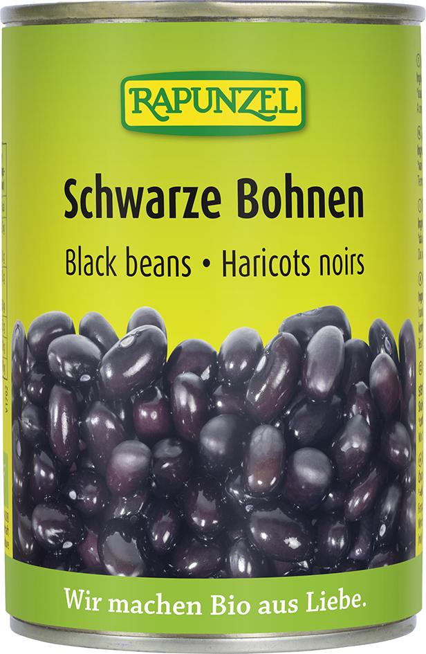 Bio černé fazole sterilované RAPUNZEL 400 g