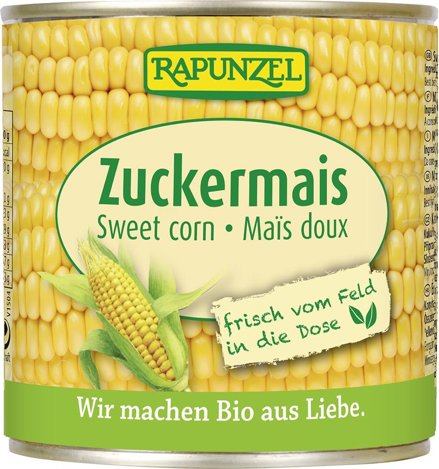Bio kukuřice cukrová sterilovaná RAPUNZEL 340 g