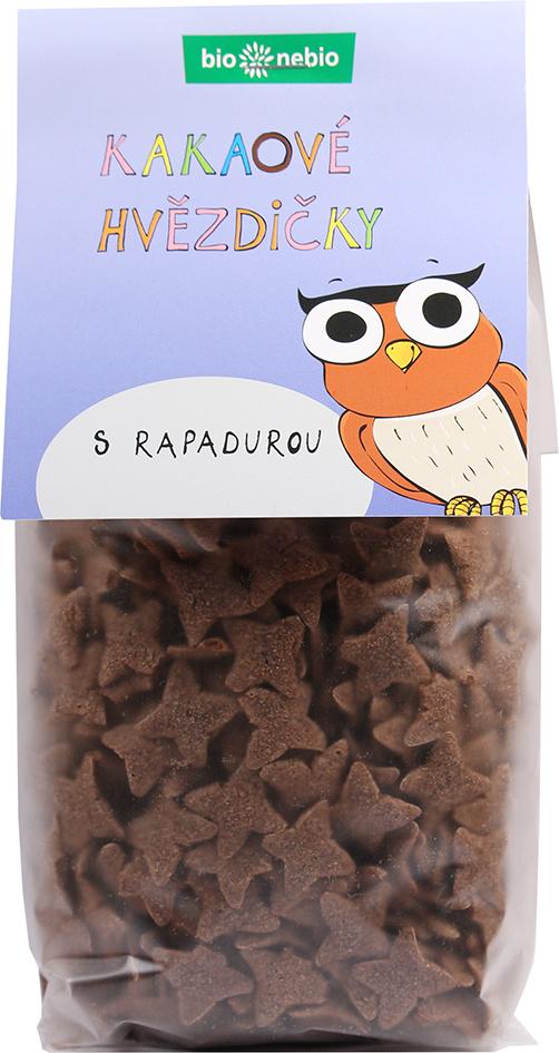 Bio kakaové hvězdičky s Rapadurou bio*nebio 150 g