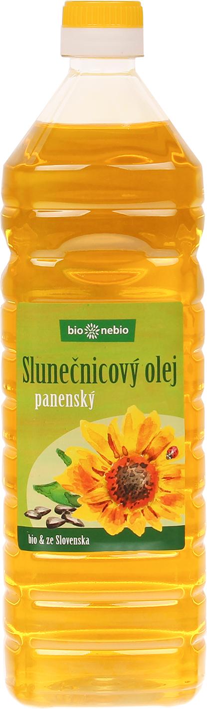 Bio slunečnicový olej lisovaný za studena bio*nebio 1 l