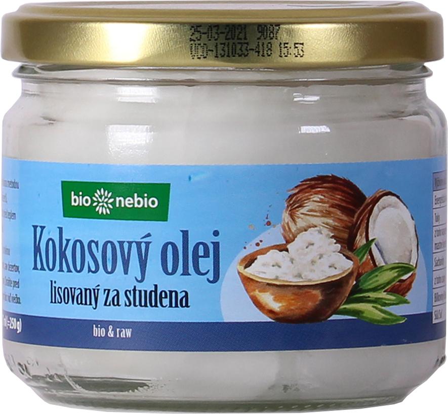 Bio kokosový olej lisovaný za studena bio*nebio 250 g
