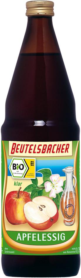 Bio jablečný ocet nepasterovaný čirý Beutelsbacher 750 ml